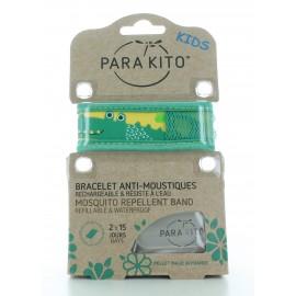 Bracelet Anti-moustiques Vert Para Kito Kids