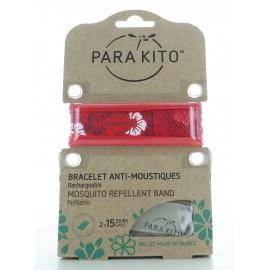 Bracelet Anti-moustiques Fleurs Rouge Para Kito