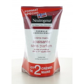 Crème Mains Apaisante sans parfum Neutrogena 2X50 ml