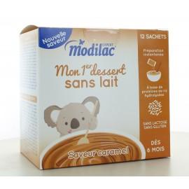 Modilac Mon 1er Dessert Caramel 12 sachets