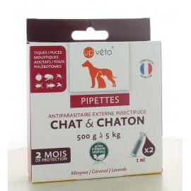 Pipettes Antiparasitaire - Répulsif Chat et Chaton Up Véto