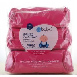 Lingettes Nettoyantes Up Baby 3X60 lingettes