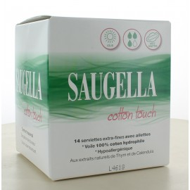 Serviettes Extra-fines Saugella Cotton Touch X14