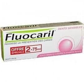Dentifrice Fluocaril Dents Sensibles Bi-Fluoré 145mg 2X75 ml