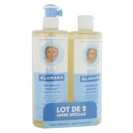 Gel Douceur Moussant Klorane Bébé 2X500 ml