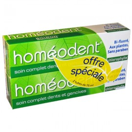 Dentifrice Homéodent Soin Complet Chlorophylle 2X75 ml