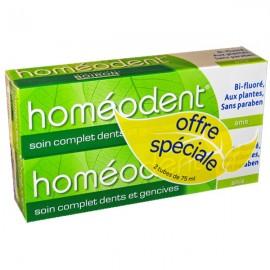 Dentifrice Bi-fluoré Homéodent Anis 2X75 ml