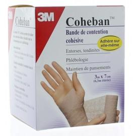 3M COHEBAN BANDE DE CONTENTION COHESIVE 3M X 7CM CHAIR