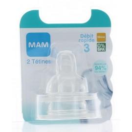 Tétine Anatomique Débit 3 4M+ Mam X2