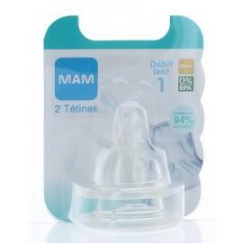 Tétine Anatomique Débit 1 0M+ Mam X2