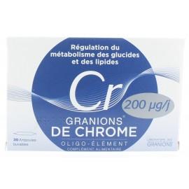 GRANIONS DE CHROME 200µg/J - 30 AMPOULES