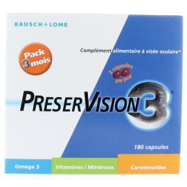 Preservision Pack 3 mois 180 capsules