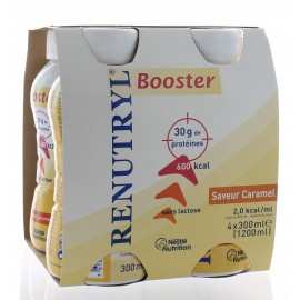 RENUTRYL BOOSTER 4X300ML SAVEUR CARAMEL