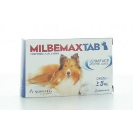 MILBEMAX TAB VERMIFUGE SPECTRE LARGE CHIEN 5 kg ET PLUS - 2 COMPRIMES