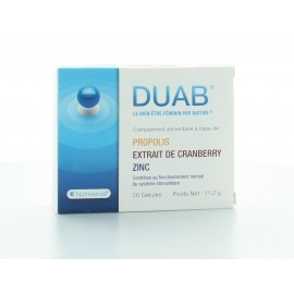 DUAB COMPLEMENT ALIMENTAIRE SYSTEME IMMUNITAIRE 20 GELULES