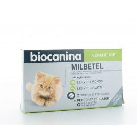 Milbetel Biocanina Vermifuge Petit Chat et Chaton 2 comprimés