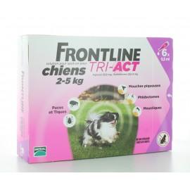 Frontline Tri-Act Chiens 2-5 kg 6 X 0,5ml