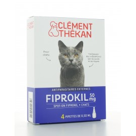 Fiprokil 50 mg Chat Clément Thékan 4 pipettes