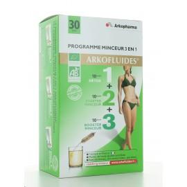 Arkofluides Programme Minceur 3en1 - 30 ampoules