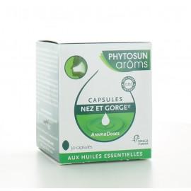 Capsules Nez et Gorge Aromadoses Phytosun Aroms X30