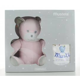 Coffret Mustela 1 Eau de Soin Parfumée Musti + 1 Peluche