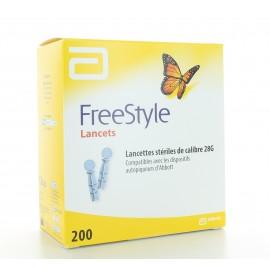 Lancettes Stériles calibre 28G Freestyle X200