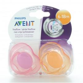 Sucette Aérée Philips Avent 6-18 mois X2