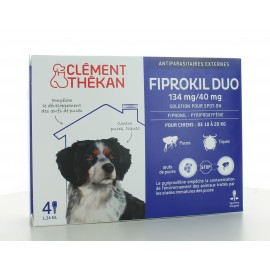 Fiprokil Duo Chien 10-20 kg 134mg/40mg 4 pipettes
