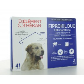 Fiprokil Duo Chien 20-40 kg 268mg/80mg 4 pipettes