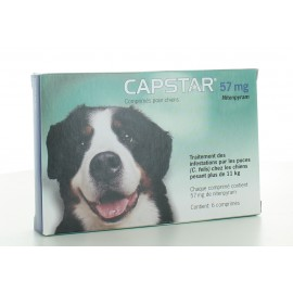 Capstar 57 mg Chien 6 comprimés
