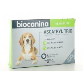 Vermifuge Ascatryl Trio Biocanina Chien 2 comprimés